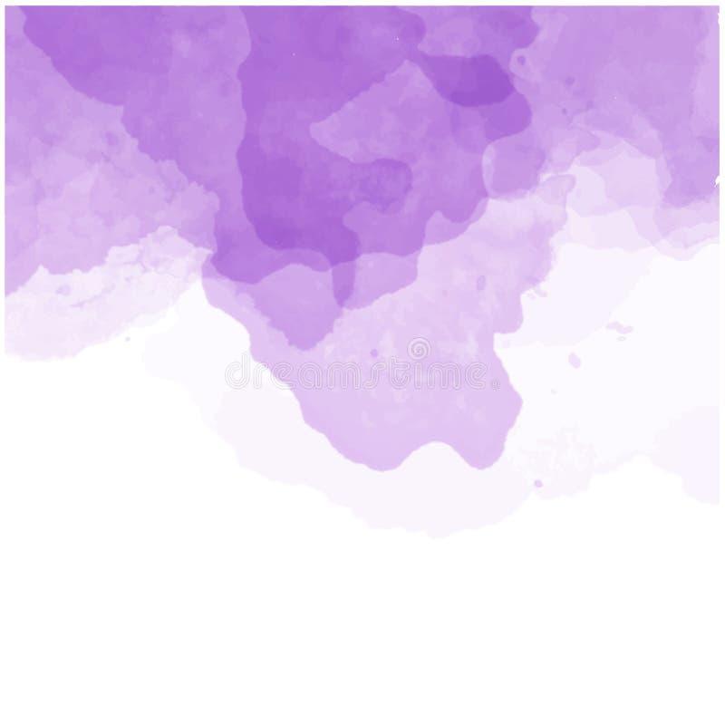 abstrakcjonistyczna tła purpur akwarela royalty ilustracja