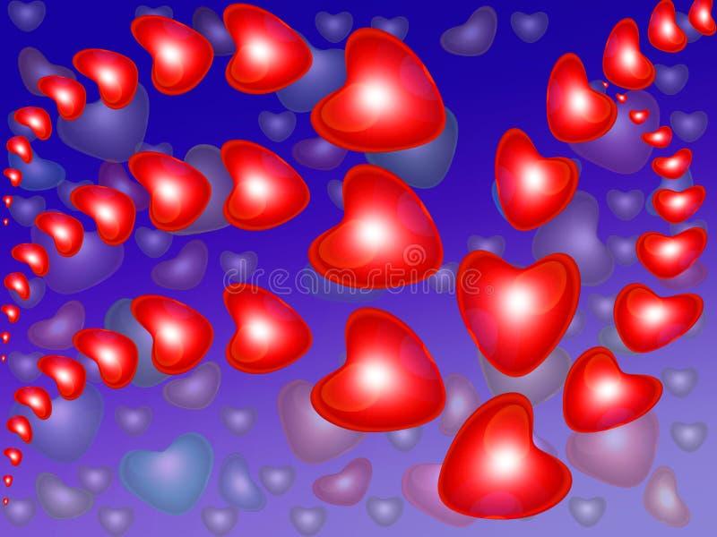abstrakcjonistyczna tła serca czerwień fotografia stock