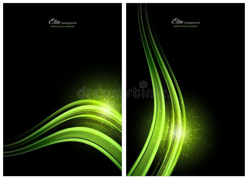 abstrakcjonistyczna tło czerń zieleń ilustracja wektor