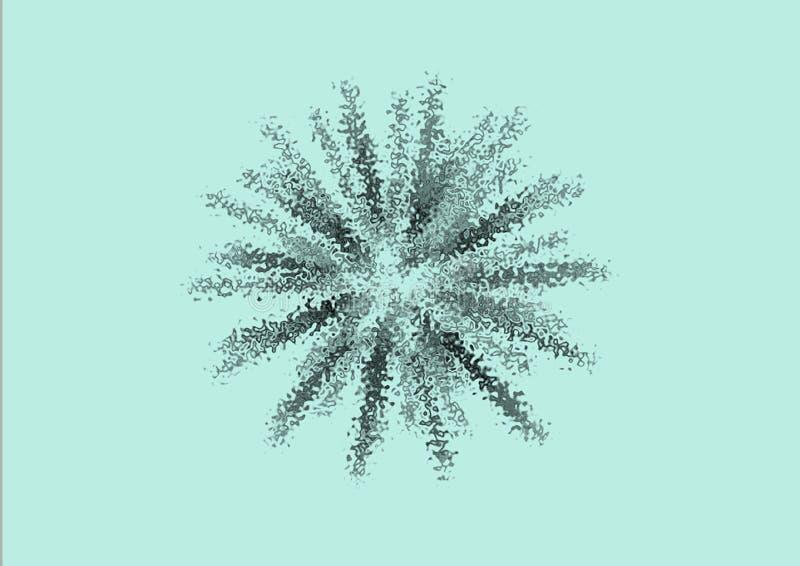 Abstrakcjonistyczna tło fajerwerków błękitne wody royalty ilustracja