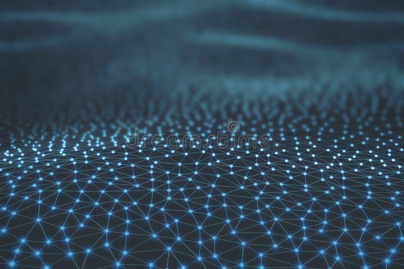 Abstrakcjonistyczna tło nauki technologia ilustracja wektor