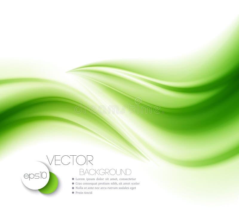 Abstrakcjonistyczna tło zieleń ilustracji