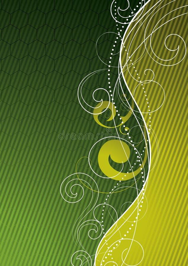 abstrakcjonistyczna tło zieleń royalty ilustracja