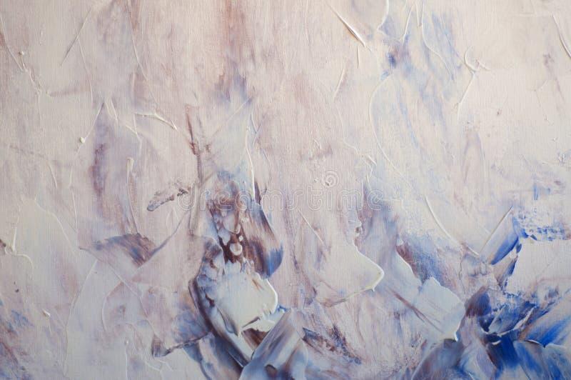 Abstrakcjonistyczna tapeta acrilic obraz z szczotkarskimi uderzeniami ilustracji