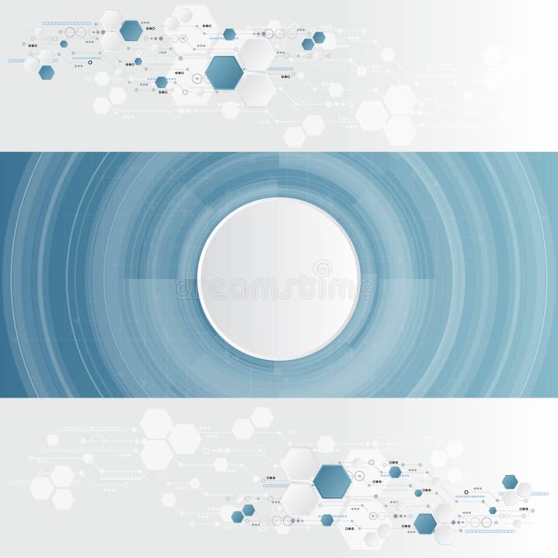 Abstrakcjonistyczna technika, inżynieria, maszyna, technologii pojęcie Wektorowy abstrakcjonistyczny futurystyczny technologii tł zdjęcie stock