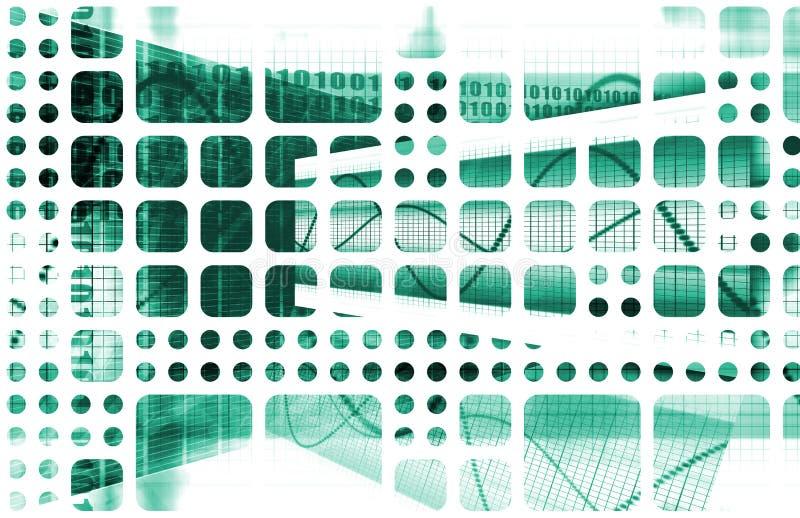 abstrakcjonistyczna technologia royalty ilustracja