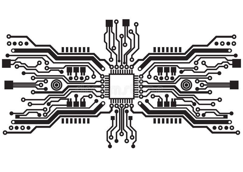 Abstrakcjonistyczna technologia obwodu deski tła tekstura