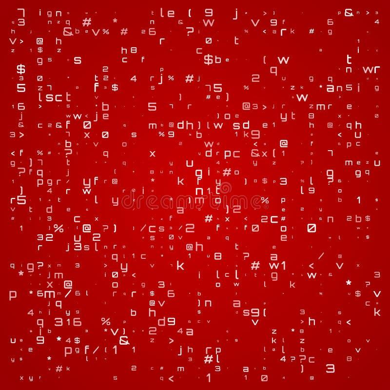 Abstrakcjonistyczna technologii ilustracja z różnymi symbolami Abstrakcjonistyczna kod prezentacja r?wnie? zwr?ci? corel ilustrac ilustracja wektor
