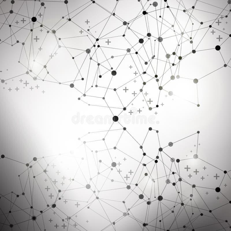 Abstrakcjonistyczna technologii komunikaci ilustracja ilustracja wektor