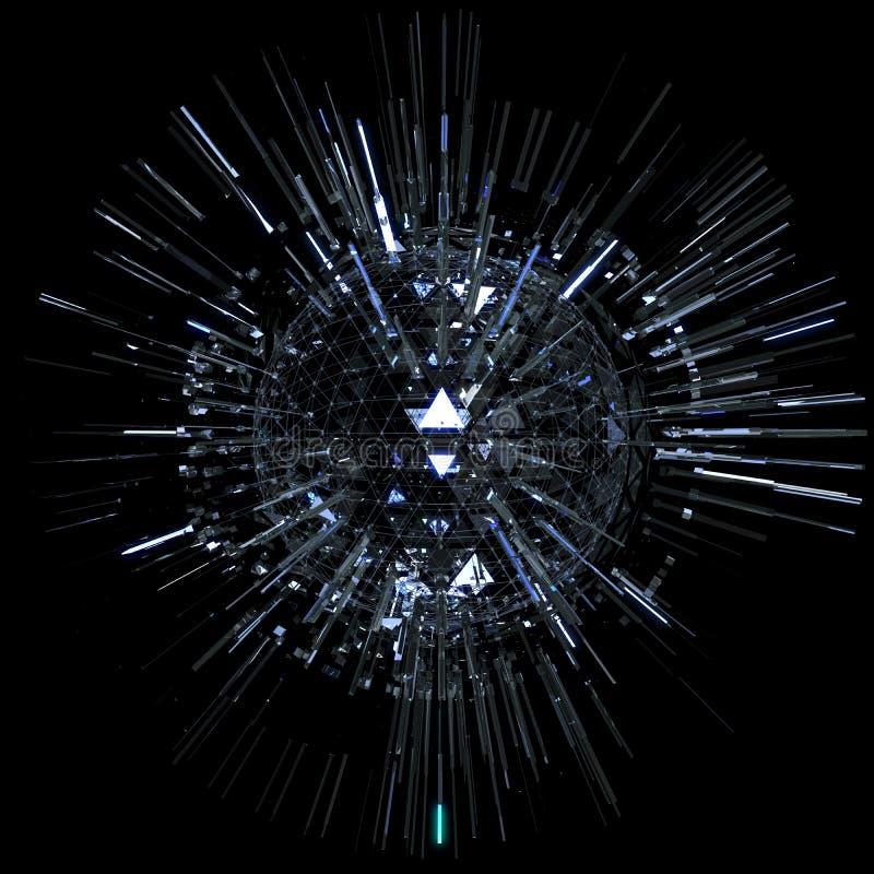 Abstrakcjonistyczna technologii sfera ilustracja wektor