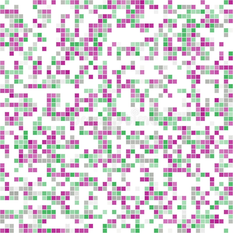 Abstrakcjonistyczna tekstura menchie, zieleń, biała mozaika ilustracja wektor