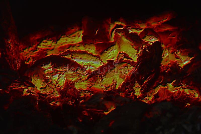 Abstrakcjonistyczna tekstura płonący węgle ogień obraz stock