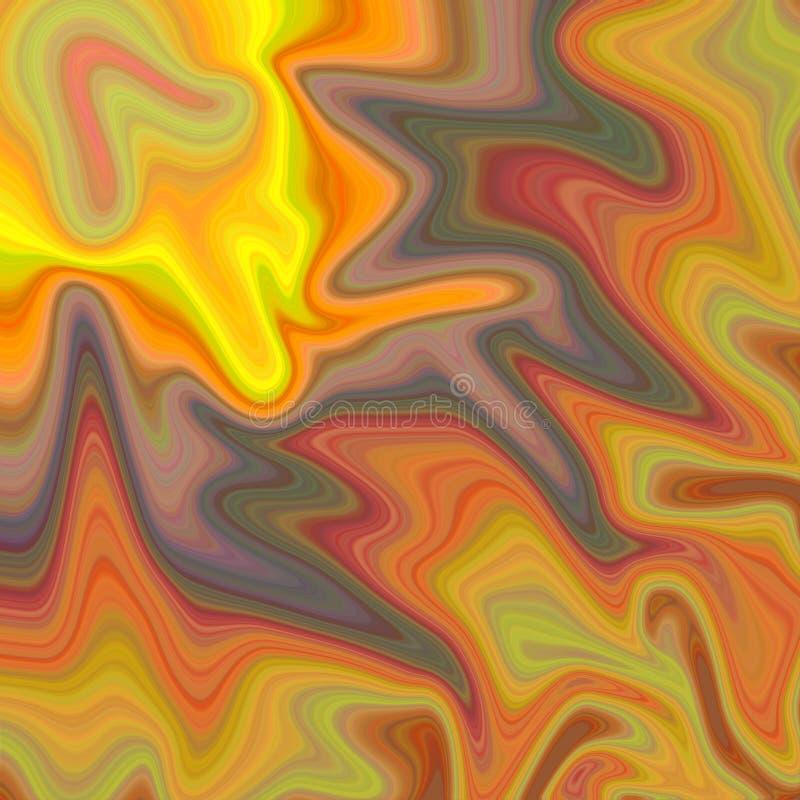 Abstrakcjonistyczna tekstura w płynąć pastelowych kolory royalty ilustracja