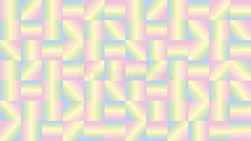 Abstrakcjonistyczna tekstura z jasnożółtymi kwadratami żółtymi z menchiami i zielenią royalty ilustracja