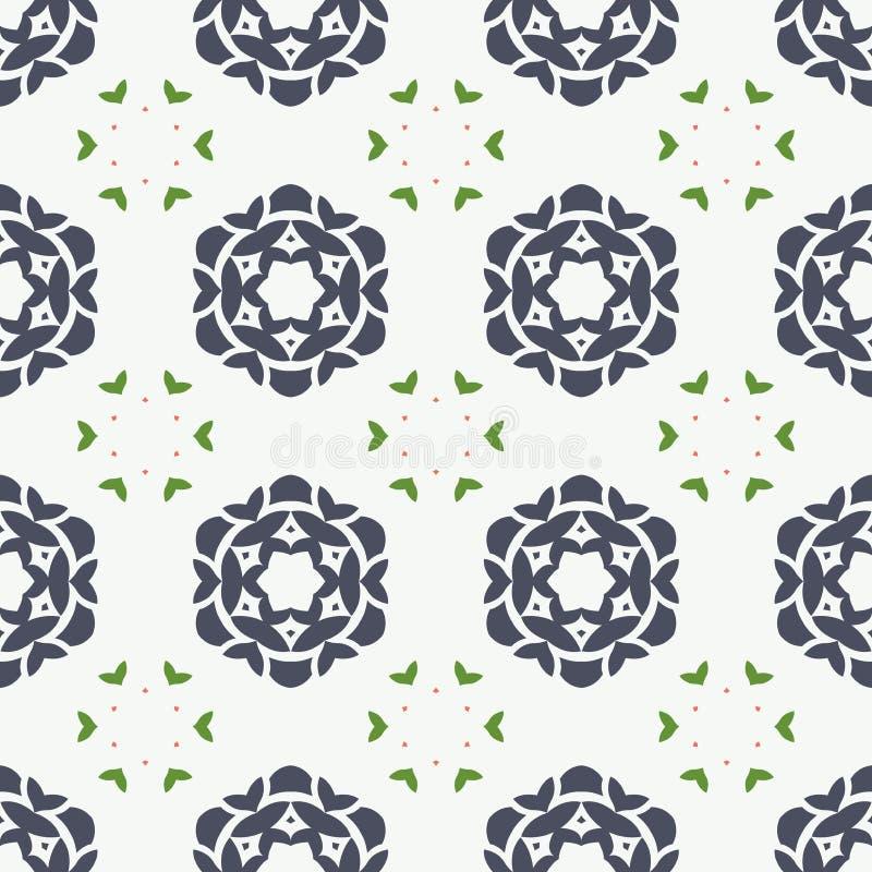 Abstrakcjonistyczna tekstura z wyginającym się kwiatu bezszwowym wzorem royalty ilustracja
