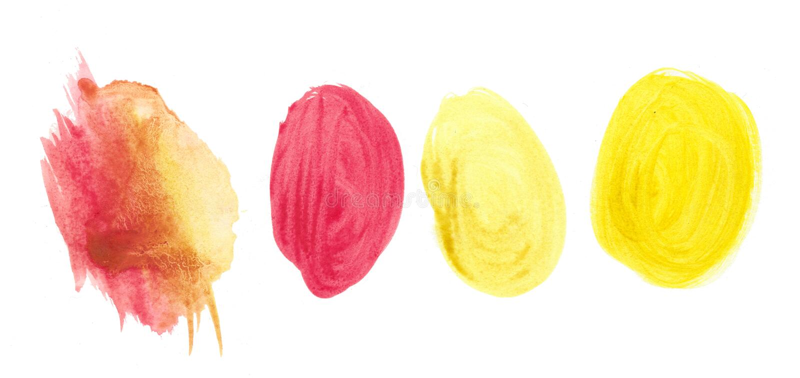 Abstrakcjonistyczna tekstury muśnięcia atramentu tła aquarel akwareli pluśnięcia ręki farba na białym tle zdjęcie royalty free