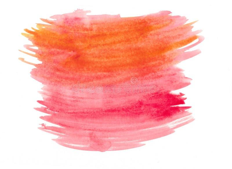 Abstrakcjonistyczna tekstury muśnięcia atramentu tła aquarel akwareli pluśnięcia ręki farba na białym tle fotografia stock