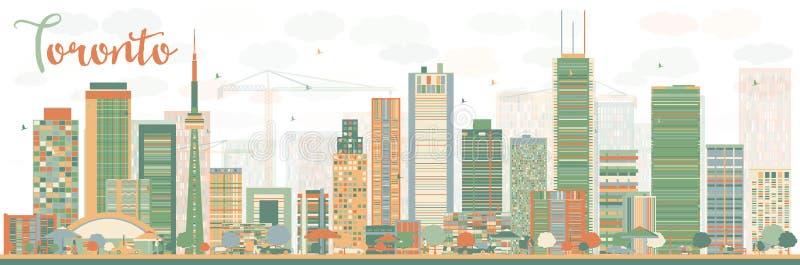 Abstrakcjonistyczna Toronto linia horyzontu z kolorów budynkami ilustracji