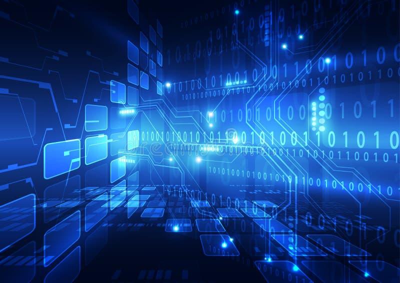 Abstrakcjonistyczna wektor prędkości interneta technologii tła ilustracja cześć royalty ilustracja