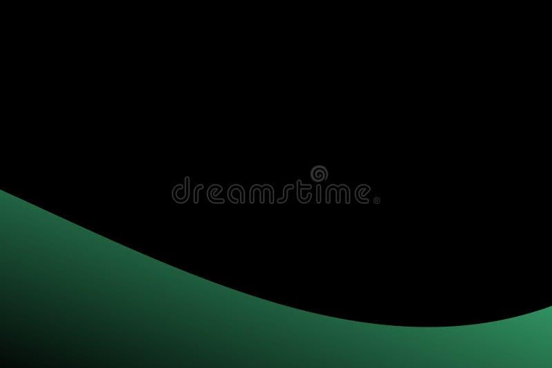 Abstrakcjonistyczna wektor zieleń i czerń cieniąca fala z czarnym tłem również zwrócić corel ilustracji wektora ilustracja wektor
