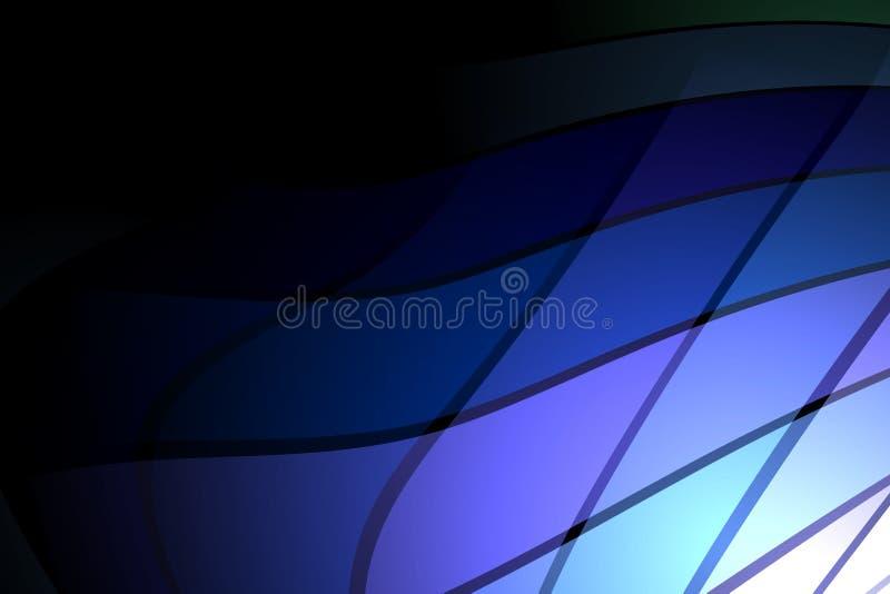 Abstrakcjonistyczna wektorowa b??kitna ocieniona falista t?o tapeta ?ywa koloru wektoru ilustracja ilustracja wektor