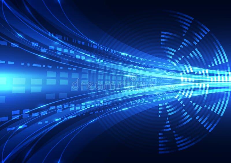 Abstrakcjonistyczna wektorowa cyfrowa przyszłościowa technologii tła ilustracja ilustracji