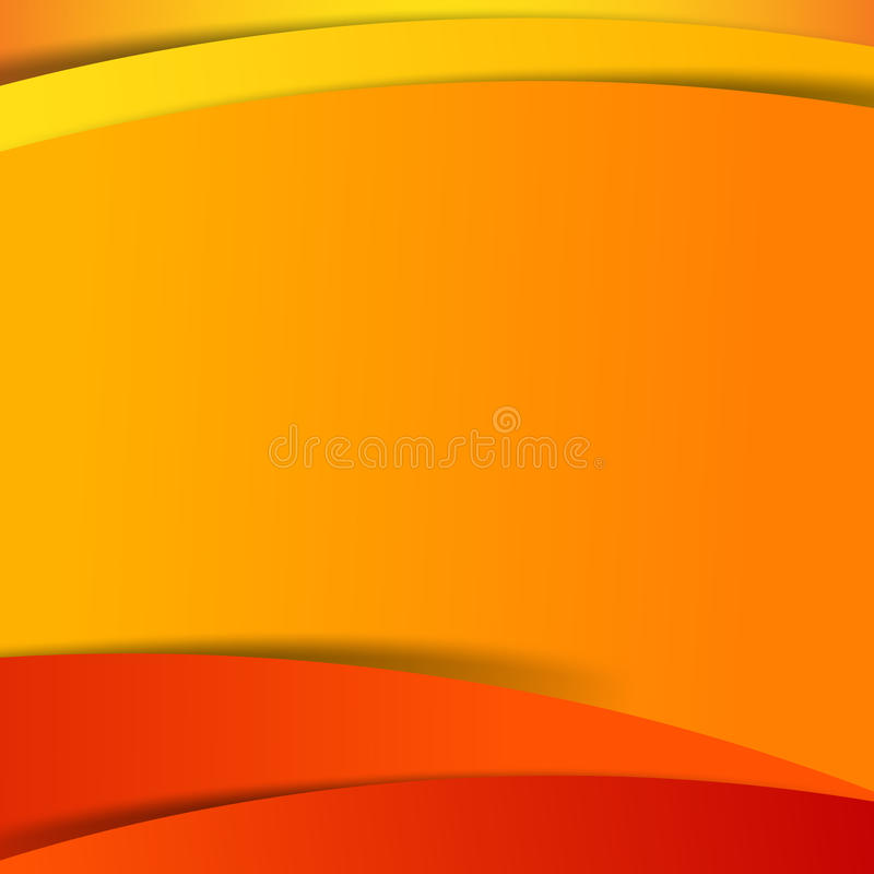 Abstrakcjonistyczna wektorowa czerwona pomarańczowego koloru żółtego tła nasunięcia warstwa i royalty ilustracja