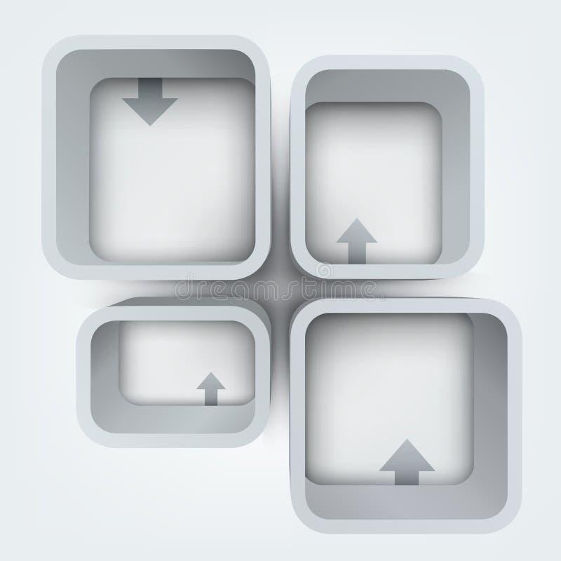 Abstrakcjonistyczna wektorowa ilustracja 3d ramy ilustracji