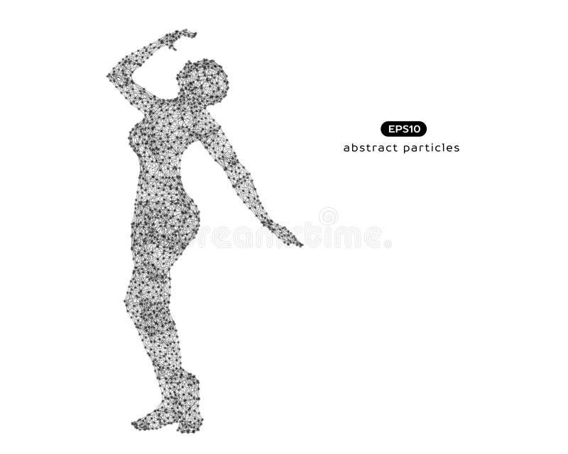Abstrakcjonistyczna wektorowa ilustracja stroskanie kobieta ilustracja wektor