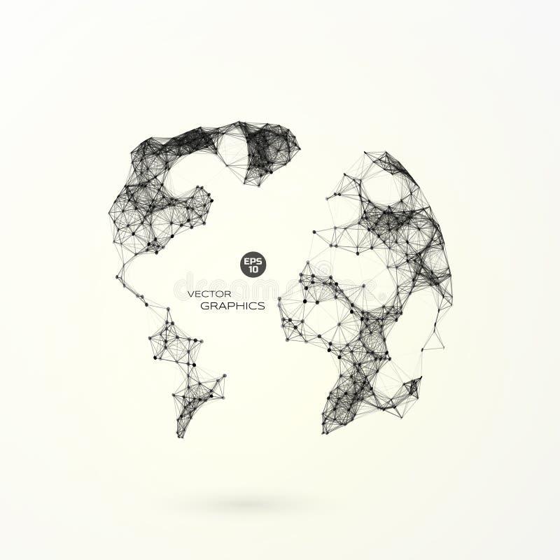 Abstrakcjonistyczna wektorowa kula ziemska obrazy royalty free