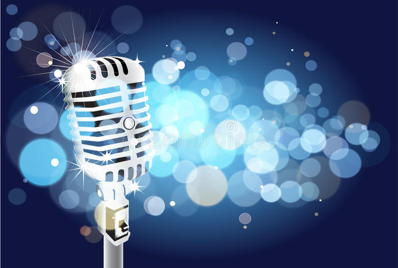 Mikrofonu tło ilustracji