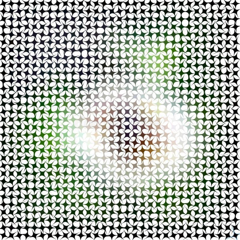 Abstrakcjonistyczna wektorowa mozaika royalty ilustracja