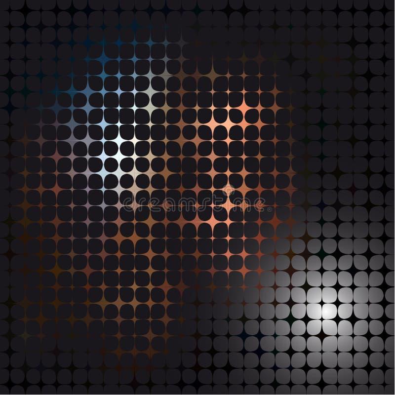 Abstrakcjonistyczna wektorowa mozaika ilustracji