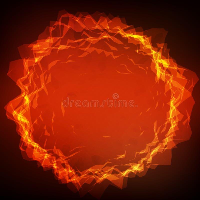 Abstrakcjonistyczna wektorowa poligonalna korumpująca cyber sfera Trójbok siatki bańczasty tło ilustracja wektor