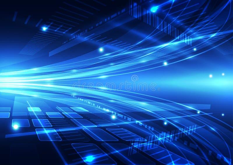 Abstrakcjonistyczna wektorowa przyszłościowa internet technologii tła ilustracja ilustracja wektor