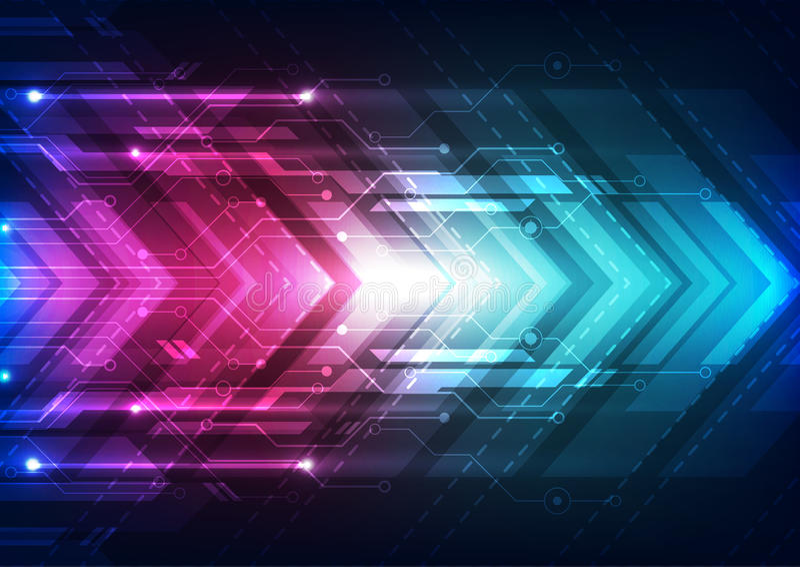 Abstrakcjonistyczna wektorowa przyszłościowa prędkości technologii tła ilustracja royalty ilustracja