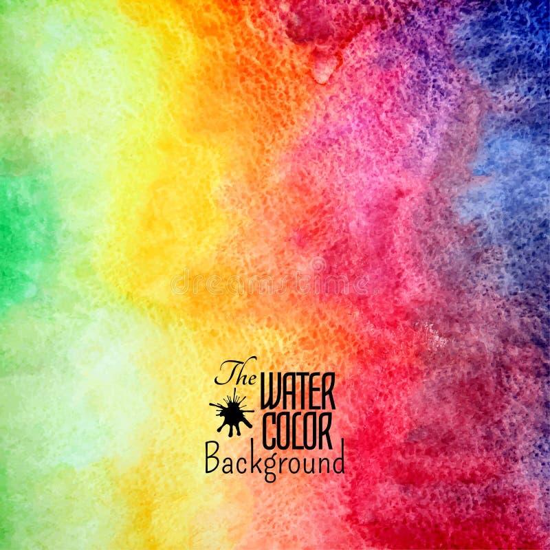 Abstrakcjonistyczna wektorowa ręka rysujący tęcza kolor ilustracja wektor