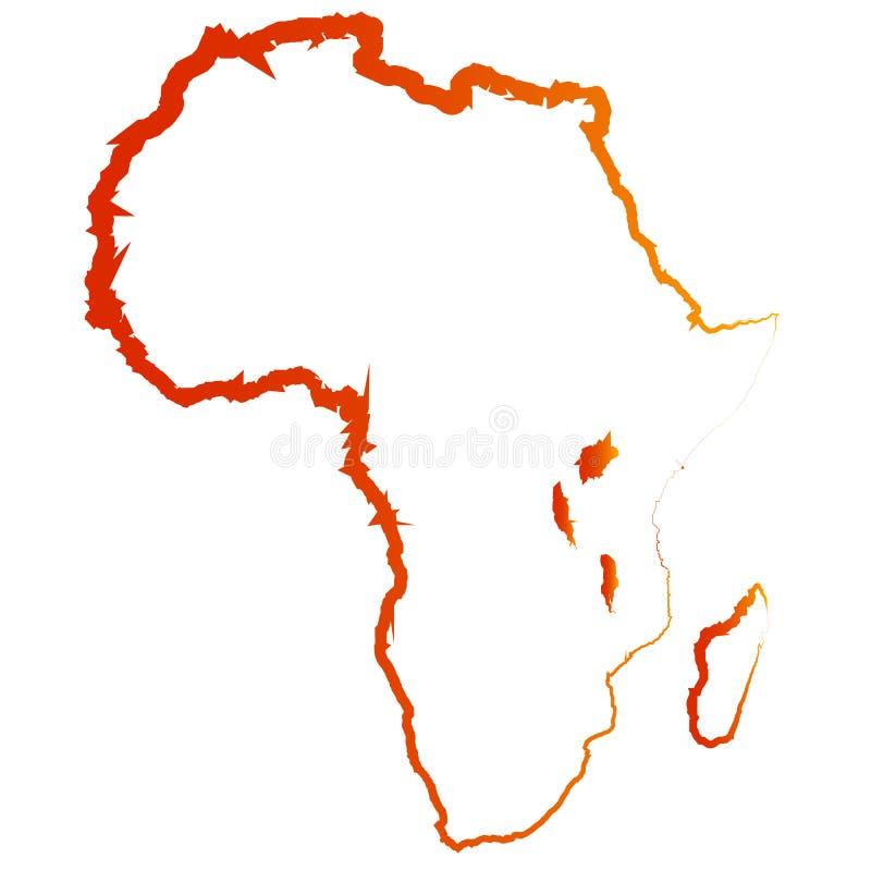 Abstrakcjonistyczna wektorowa sylwetka Afryka ilustracji