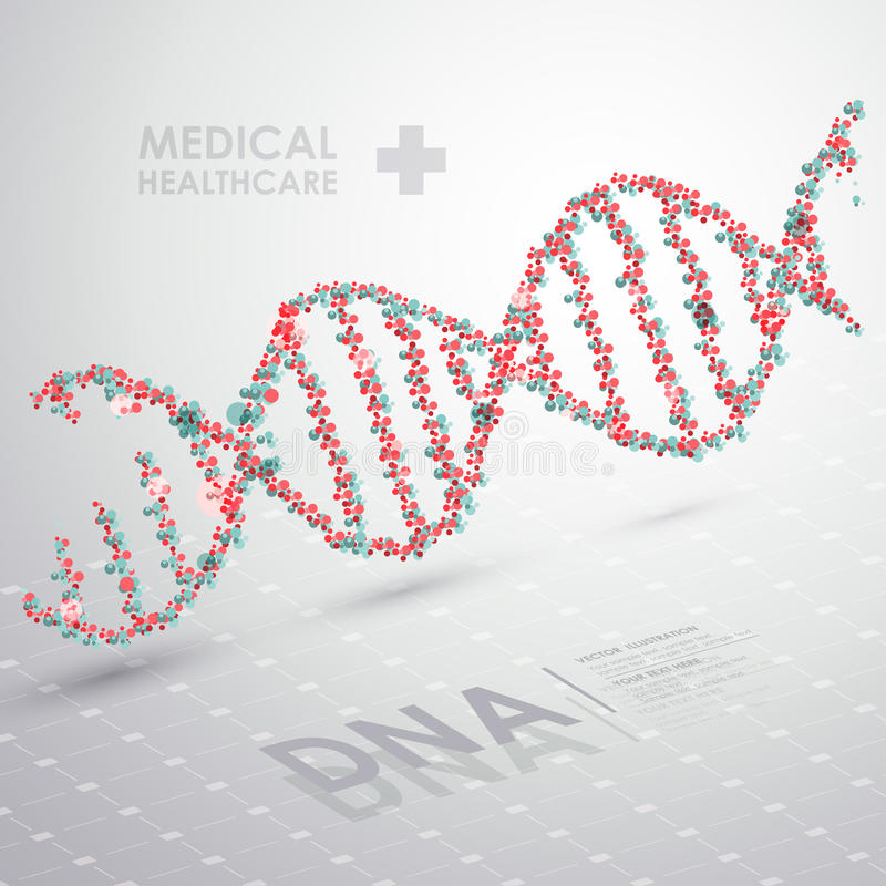Abstrakcjonistyczna wektoru DNA formuła tła opieki zdrowie medyczni zdjęcie royalty free