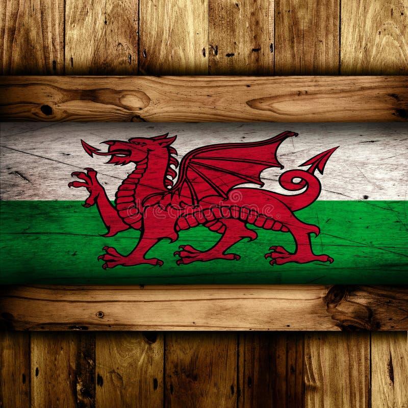 Abstrakcjonistyczna Welsh flaga zdjęcia stock