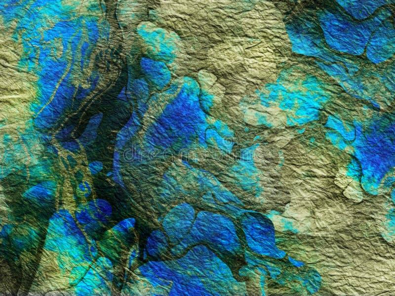 Abstrakcjonistyczna wibrująca zielona błękitna tekstura, tło royalty ilustracja
