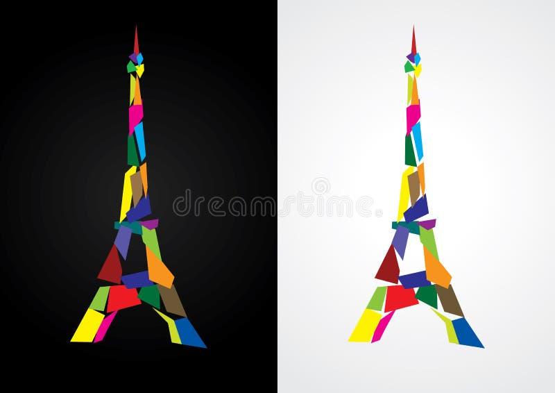 abstrakcjonistyczna wieża eifla ilustracja wektor