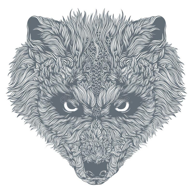 Abstrakcjonistyczna wilk głowa wektor obraz stock