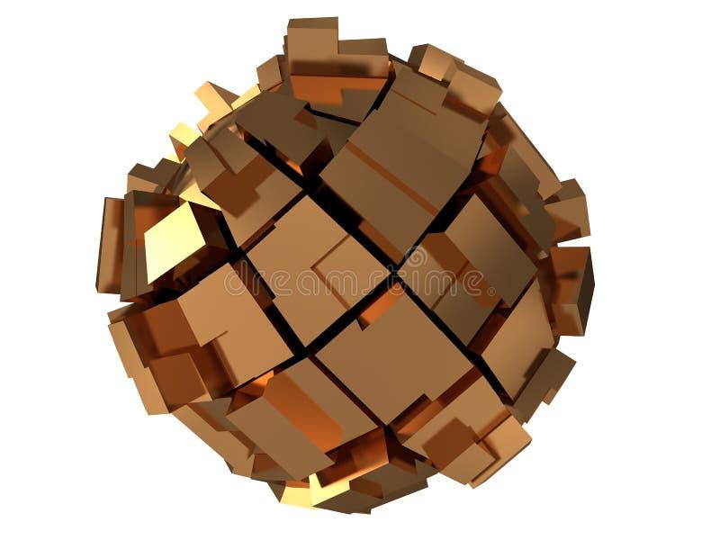 abstrakcjonistyczna złota sfera ilustracji