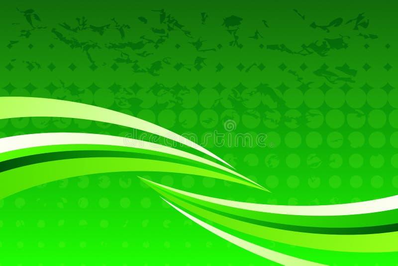 abstrakcjonistyczna zieleń royalty ilustracja