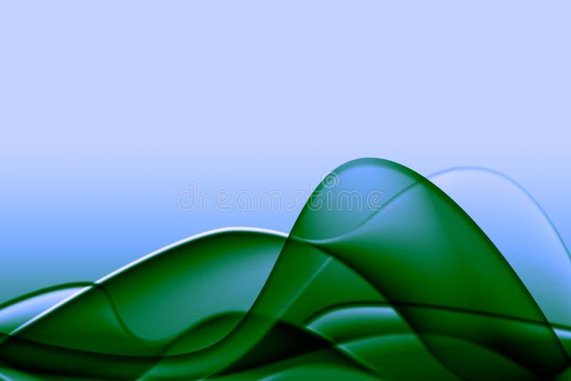 abstrakcjonistyczna zielona ilustracja ilustracji