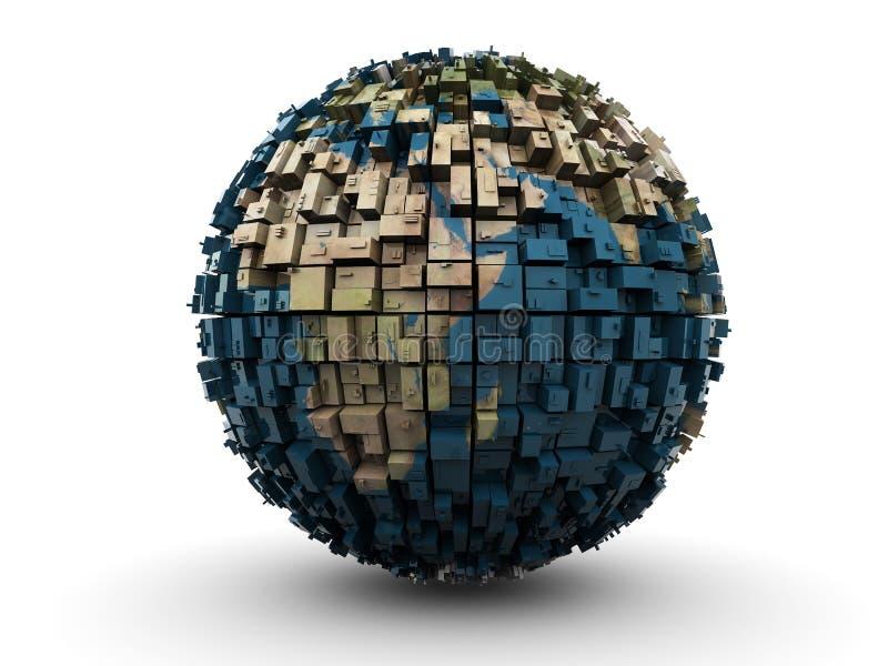 abstrakcjonistyczna ziemska kula ziemska ilustracji