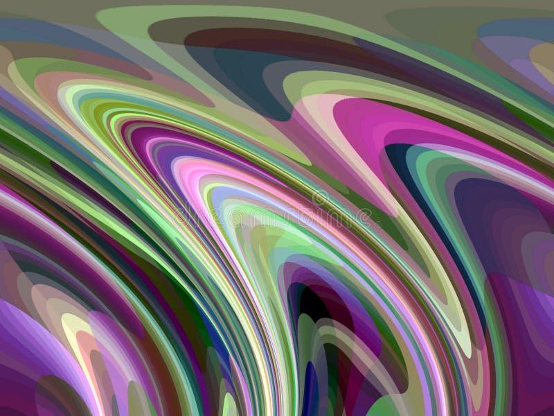 Abstrakcjonistyczne żywe purpurowe iskrzaste rzadkopłynnych linii geometrie, abstrakcjonistyczne grafika ilustracja wektor