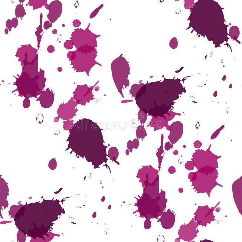 Abstrakcjonistyczne akwareli krople Kolorowi Abstrakcjonistyczni wektorowi atrament farby splats royalty ilustracja