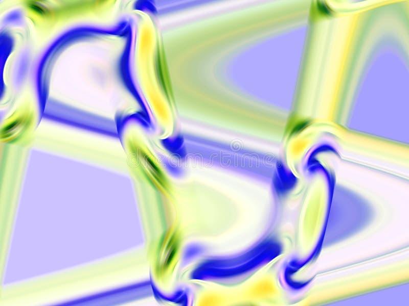 Abstrakcjonistyczne błękitne żółte dymiące geometrie, figlarnie geometrii tło, grafika, abstrakcjonistyczny tło i tekstura, ilustracja wektor